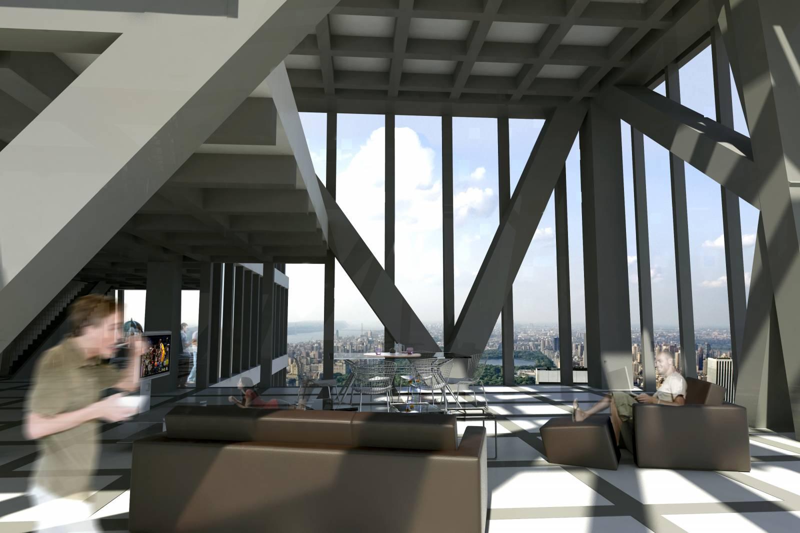 Tour de verre 53w53 ateliers jean nouvel for New york life building interior