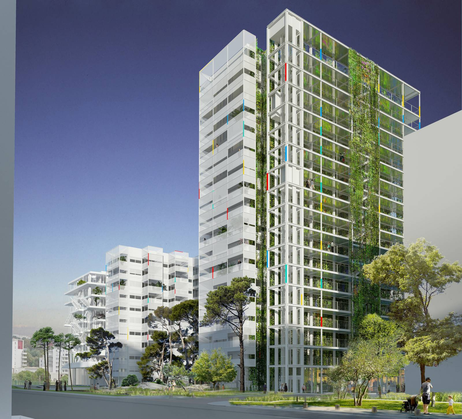 Pl iade and odyss e residences nice m ridia ateliers for Nice building images