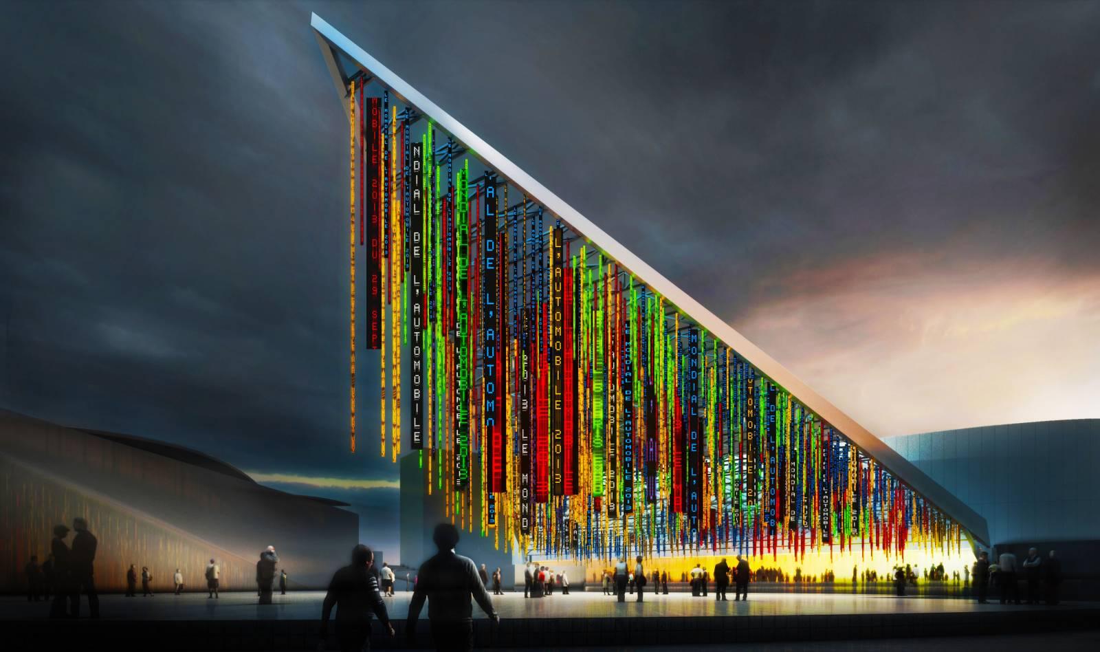Paris expo porte de versailles main facade public - Parc des expositions porte de versailles plan ...